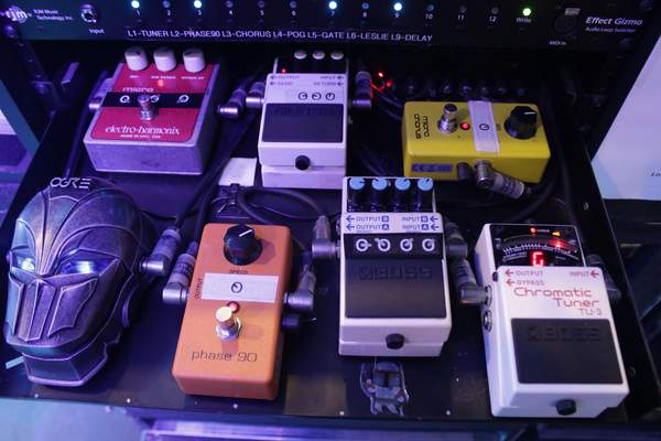 Judas Priest Richie Faulkner Pedal Board