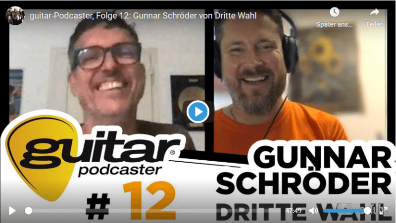 guitar Podcaster Spotify Folge 12 Gunnar Dritte Wahl